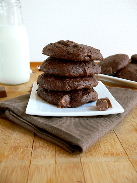 For the Chocolate Toffee Lovers or my Chocolate Caramel Cookies filled ...