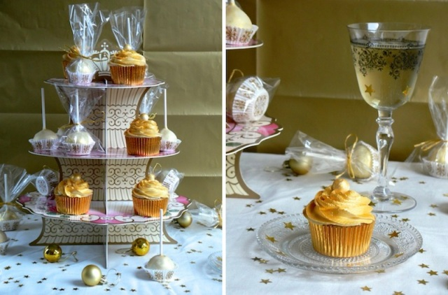 Golden White Chocolate Cupcakes 3