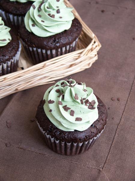 Chocolate Pistachio Cupcakes 3