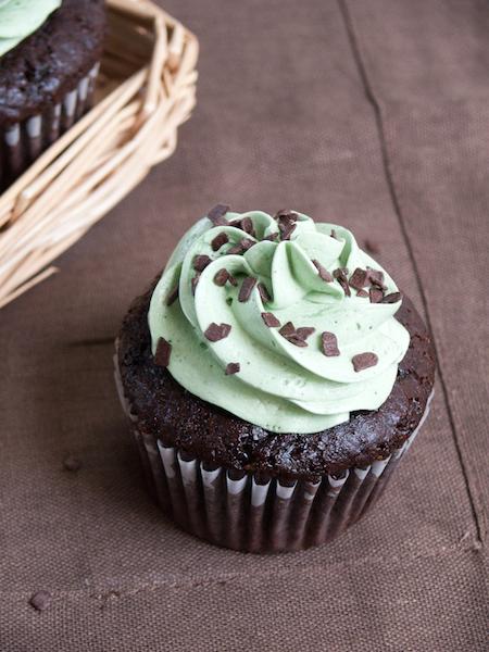 Chocolate Pistachio Cupcakes 7