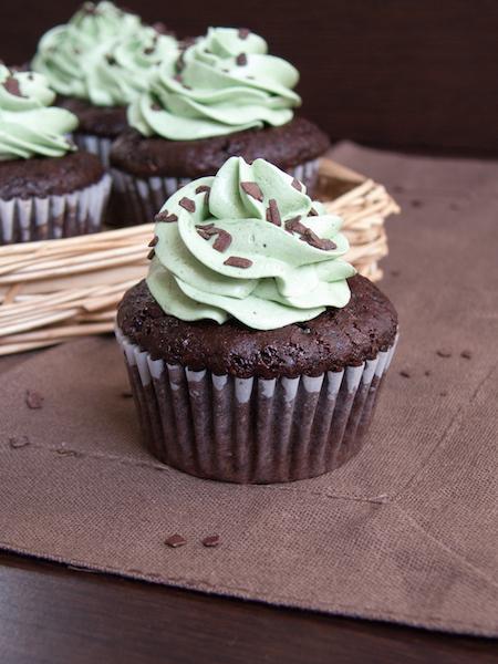 Chocolate Pistachio Cupcakes 8