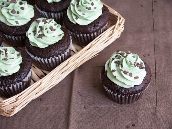 Chocolate Pistachio Cupcakes 9