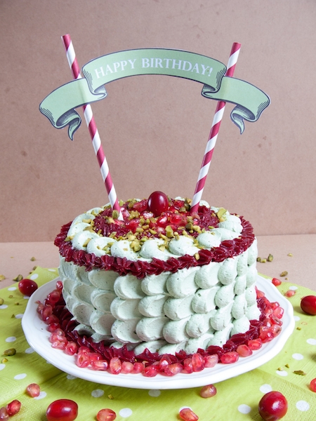Pistachio Pomegranate Cranberry Layer Cake 3