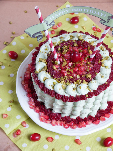 Pistachio Pomegranate Cranberry Layer Cake 5