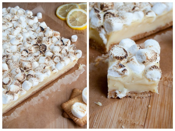 White Chocolate Lemon Meringue Pie Bars Diptich 3