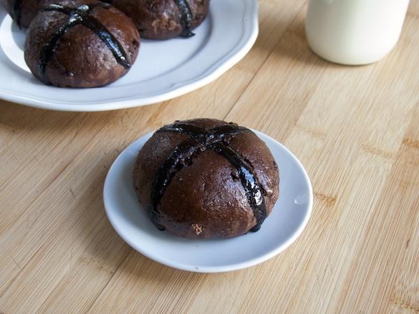 Chocolate Hot Cross Buns 1