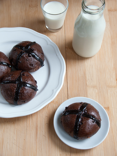 Chocolate Hot Cross Buns 10