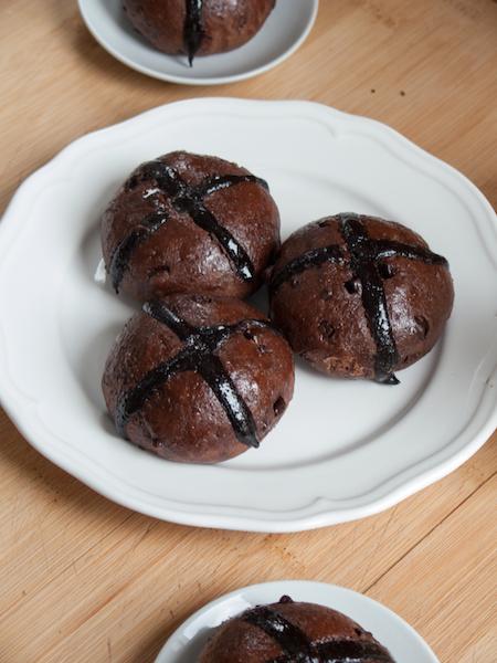 Chocolate Hot Cross Buns 4