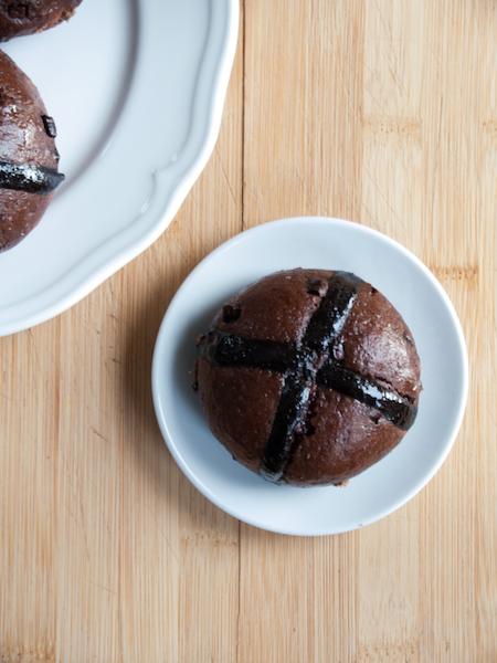 Chocolate Hot Cross Buns 5