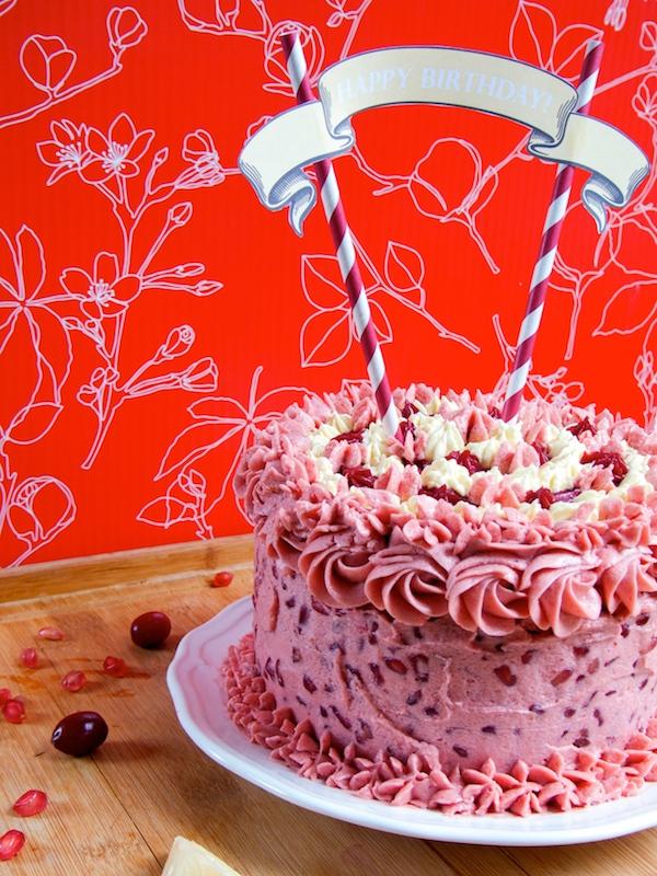 Lemon Pomegranate Cranberry Cake 2