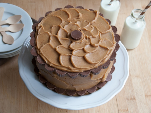 Peanut Butter Chocolate Layer Cake 1