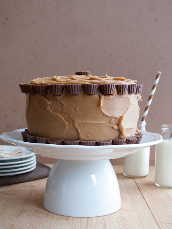 Peanut Butter Chocolate Layer Cake 2