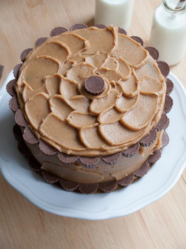 Peanut Butter Chocolate Layer Cake 6