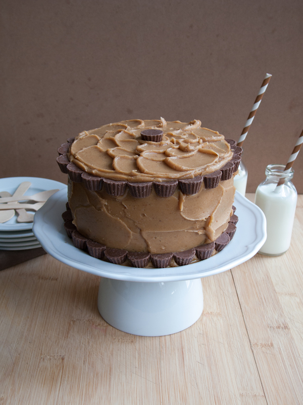 Peanut Butter Chocolate Layer Cake 8